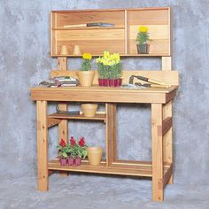 Potting Bench Woodworking Plan by U-Bild Woodworking Plans