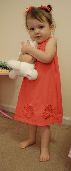 t-shirt toddler rose dress tutorial