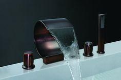 faucet_shop Y-8014R-1 5 Hole Solid Brass Oil Rubbed Bronze Waterfall Bathroom Faucet faucet_shop,http://www.amazon.com/dp/B00A714UIK/ref=cm_sw_r_pi_dp_xmREtb00DC37QD2H