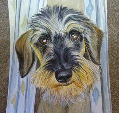watercolor Teckel