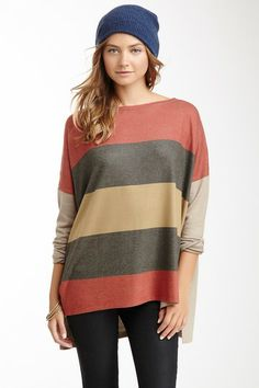 Patch Oversized Sweater by Go Couture on @HauteLook