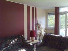 AuBergewohnlich Wandstreifen Ideen Wohnzimmer Wohnzimmer Streichen Ideen Streifen Konzept  Wand Zweifarbig Streichen Ideen U2013 Einzigartiger Garten