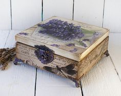 Vintage rose Big Box sewing box Box for by Alenahandmade on Etsy