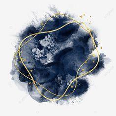 Dark Blue Background, Geometric Background, Background Patterns, Watercolor Background, Watercolor Flowers, Flower Graphic Design, Star Illustration, Drawing Frames, Gold Powder