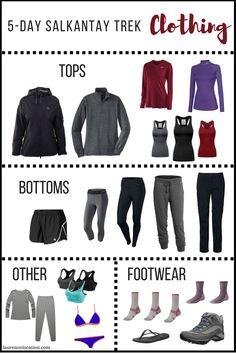 Clothing for the 5 Day Salkantay Trek