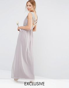 Buy TFNC WEDDING Embellished Back Detail Maxi Dress at ASOS. With free delivery and return options (Ts&Cs apply), online shopping has never been so easy. Get the latest trends with ASOS now. Short Lace Bridesmaid Dresses, Bridesmaid Duties, Wedding Dresses, Bridesmaids, Wedding Attire, Party Dress, Fashion Dresses, Elegant