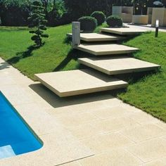 36 Super Ideas For Stairs Architecture Landscape Concrete Steps Modern Landscaping, Backyard Landscaping, Landscaping Ideas, Backyard Pergola, Outdoor Steps, Garden Stairs, Concrete Stairs, Exterior Stairs, Floating Stairs