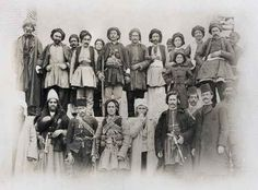 Simkoyê Şikak (fourth from the right), chieftain of the large Shikak tribe, with Members of other Kurdish Tribes. ➡ https://m.facebook.com/Childrenofthefire/?refid=13