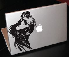 Final Fantasy 8, Squall & Rinoa Decal Laptop Sticker - This is so beautiful. I want it.