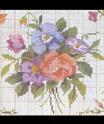 Free floral motif cross stitch pattern from the 1920's makes a great stitch project...