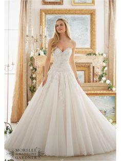ball gown Ivory mori lee 2877 wedding dress mori lee 2877 www.bestdresssellingcom