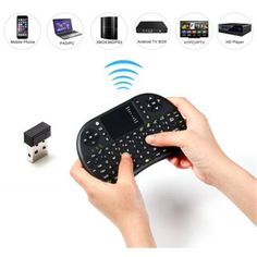 2.4 G RUSSO TASTIERA WIRELESS Air Mouse Touchpad per Android TV PC ad hoc