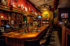 The bar at Sam B's.