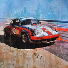 Martini Porsche 911 von Markus Haub Edition auf Metall (Dibond) ab 25 x 25 cm ab 49,00 € http://www.artfan.de/haub-markus-martini-porsche-911-carrera-rsr-kunst-kaufen-junge-kunstler.html