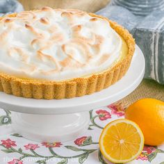 Meyer Lemon Tart | Graham cracker crust with lemon filling and a cloud of toasted meringue