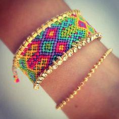 Double rainbow Swarovski Bracelet от colordrop на Etsy