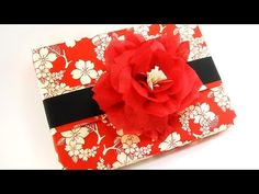 Chic Gift Wrapping with Beautiful Paper Flower - YouTube