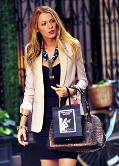 Cute dress w/ jacket and statement necklace