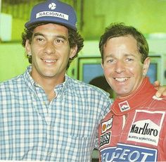 Ayrton with martin Brundel Michael Schumacher, Motogp, Formula 1, Ducati, F1 Motorsport, Good Times Roll, F1 Drivers, Ronaldo, Grand Prix