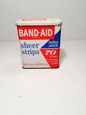 Vintage Band-Aid Tin Sheer Strips Johnson&Johnson