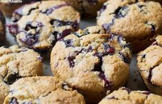 Blueberry Banana Oat Muffins/ Clean Eating Recipe