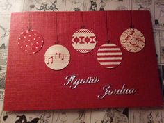 Handmade by HeidiH: Joulukalenterin luukku Christmas Greeting Cards, Christmas Wishes, Christmas Greetings, White Christmas, Christmas Crafts, Christmas Decorations, Xmas, Holiday Decor, Hobbies And Crafts