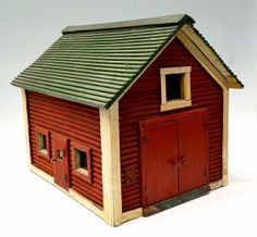 Red Barn.   Want to make one of these for the front porch for my outdoor cat.