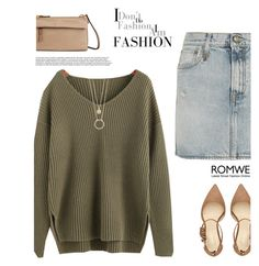 """""""Romwe Sweater"""" by tawnee-tnt ❤ liked on Polyvore featuring R13, Nine West, Tumi and Kate Spade"""