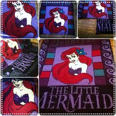 The Little Mermaid Crocheted Blanket. A Christmas commissioned blanket for a coworker!