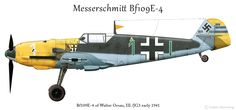 Messerschmitt Bf 109E-4 Walter Oesau W.Nr 1559 profile by Anders Hjortsberg
