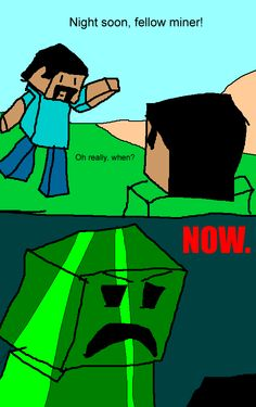 minecraft cartoon