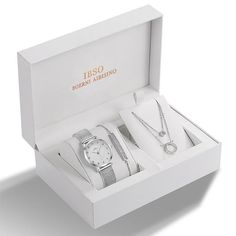 IBSO Brand Women Crystal Design Watch Bracelet Necklace Set Female Jewelry Set Fashion Creative Quartz Watch Lady's Gift Brand: IBSO Case Material: Alloy Clasp Type: Buckle Movement: Quartz Band Width: Band Length: Case Thickness: Dial Diameter: Watch Necklace, Necklace Set, Bracelet Watch, Bracelets Design, Jewelry Design, Crystal Design, Silver Gifts, Crystal Bracelets, Quartz Watch