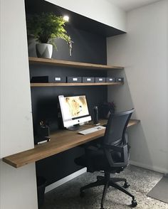 46 Hottest Diy Home Office Decor Ideas With Tutorials. Designing a home office is easy for some people, while others find the process daunting. Whether you want to set up a new home office or redesign. Office Nook, Home Office Space, Home Office Design, Home Office Decor, Home Decor, Office Ideas, Office Designs, Tiny Office, Office Setup