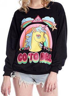 Doukia Unicorn Pony Druck Longsleeve Pullover T Shirts Sweatshirt Damen Schwarz Doukia® http://www.amazon.de/dp/B015N29TRY/ref=cm_sw_r_pi_dp_SasIwb0C6Y1H2