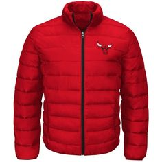 G3 Sports Men's Chicago Bulls Skybox Packable Quilted Jacket ($83) ❤ liked on Polyvore featuring men's fashion, men's clothing, men's outerwear, men's jackets, mens jackets and mens quilted jacket