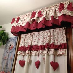 Valance Curtains, Rose Curtains, Curtains, Curtain Decor, Shabby, Country Curtains, Curtain Designs, Home Decor, Window Coverings