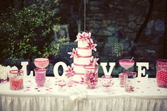 Candy Buffet Table  #wedding #candy and #candywarehouse