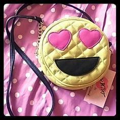 Cute emoji face purse New with tags Betsey Johnson Bags Crossbody Bags