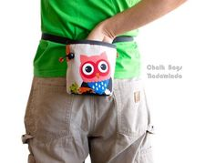 https://www.facebook.com/ChalkBagsNadamlada Owl Chalk Bag. Cool Chalk Bag for Rock Climbing #rockclmbing #climb #chalkbag