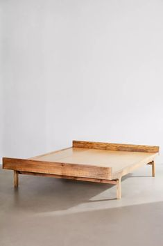 Urban Outfitters Bedding, Urban Outfitters Furniture, Bamboo Shoe Rack, Wood Beds, Headboard And Footboard, Headboards, Diy Bed, Diy Couch, Rustic Industrial