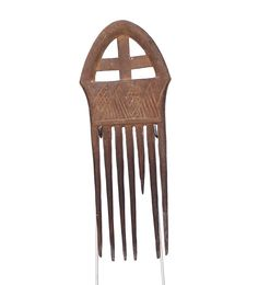 Wooden Akan Comb, Ghana #1609 | Combs | Artifacts — Deco Art Africa - Decorative African Art - Ethnic Tribal Art - Art Deco