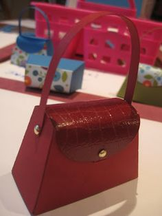 """Love this """"faux crocodile"""" technique@  Too cute on the petite purse die from SU."""