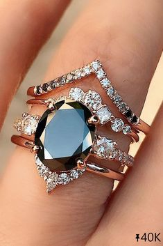 24 Unique Black Diamond Engagement Rings ❤ Black diamond engagement rings. Are they really? Of course!! Look at the most popular black diamond engagement rings and try to choose the best one! #ohsoperfectproposal #diamondrings #weddingrings #blackdiamondrings #goldengagementrings #uniquering #diamondengagementrings #bestrings #blackdiamond Wedding Ring Sets Unique, Wedding Rings Simple, Titanium Wedding Rings, Wedding Rings Rose Gold, Wedding Rings Vintage, Bridal Ring Sets, Unique Rings, Vintage Engagement Rings, Unique Weddings