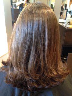 Hair Styles For Medium Length Hair Thin Brown Long Bobs 50 Ideas For 2019 Medium Layered Hair, Medium Hair Cuts, Long Hair Cuts, Medium Hair Styles, Short Hair Styles, Medium Straight Haircut, Haircuts Straight Hair, Bold Hair Color, Mode Style