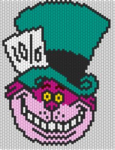 Cheshire Cat In Mad Hatters Hat bead pattern