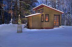 Small fishing cabin