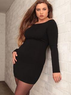 Plus Size Lingerie   Plus Size Apparel   Everyday Sexy Little Black Dress hipsandcurves.com