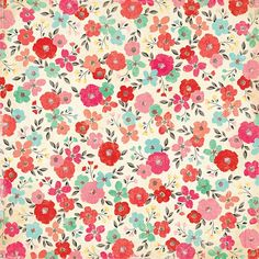 pattern floral with antique colors // Paper by Crate Paper - Two Peas in a Bucket