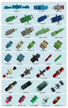 Fiber Optic connectors - Now you know! Electronic Parts, Electronic Engineering, Electronic Schematics, Electrical Engineering, Electronics Components, Diy Electronics, Electronics Projects, Computer Technology, Computer Science