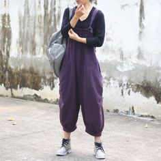 Latest trends for jumpsuits at BUYKUD online. You can buy the quality loose jumpsuits, which is good for you beach, park, travel and more. 2015 Fashion Trends, 2015 Trends, Latest Trends, Cotton Jumpsuit, Casual Jumpsuit, Forest Girl, Mori Girl, Autumn Casual, My Outfit